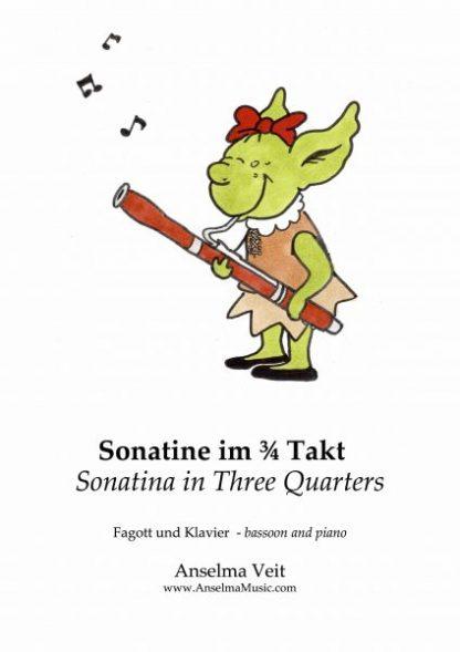 Sonatine im 3_4 Takt Fagott Klavier Anselma Veit