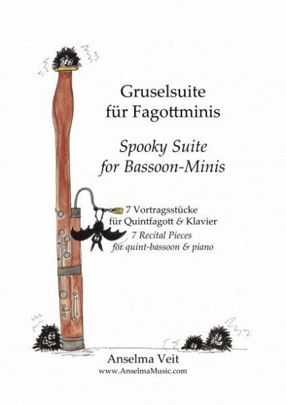 Gruselsuite Cover Quintfagott Klavier Anselma Veit