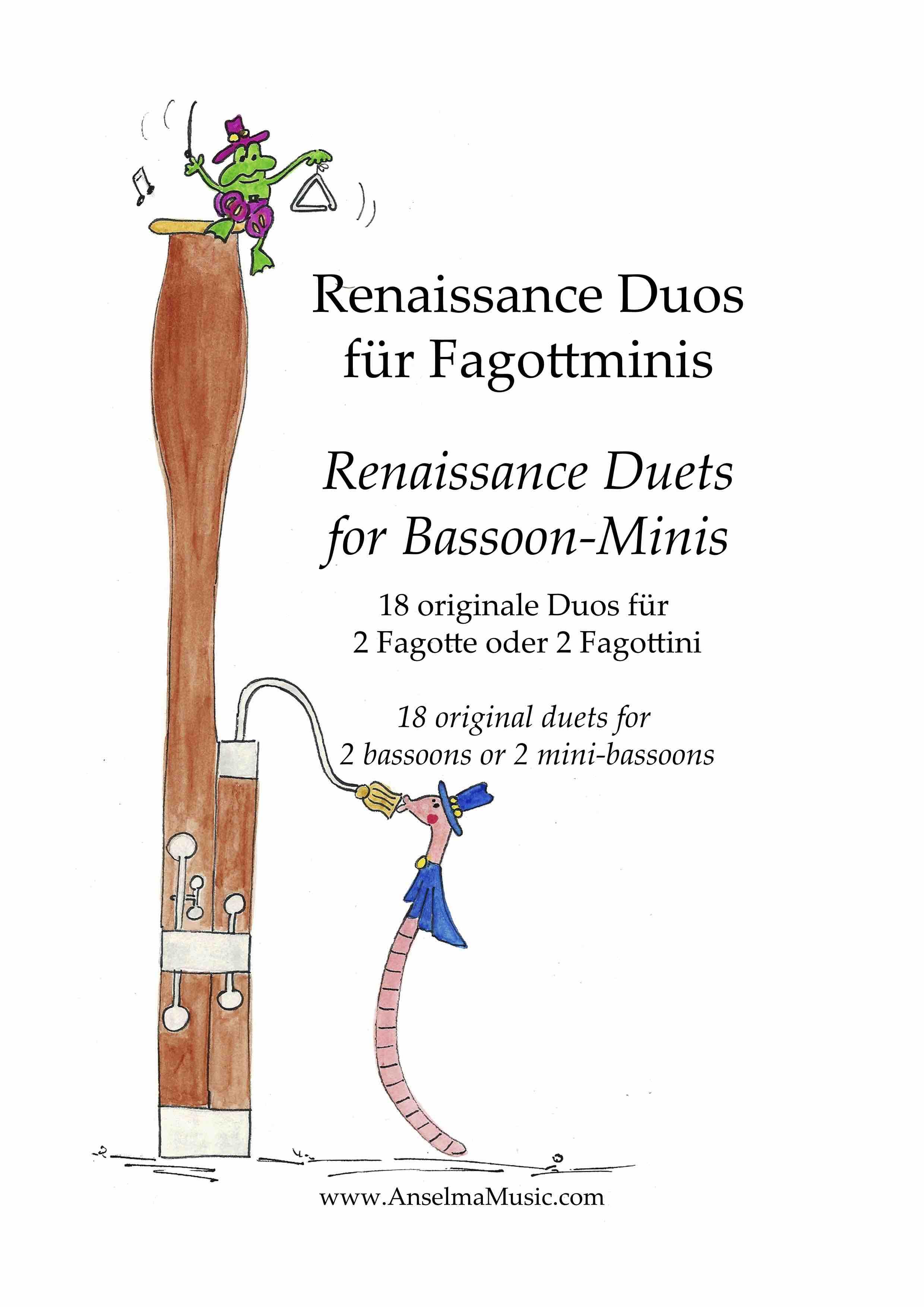 Renaissance Duos fuer Fagottminis Fagott Duo Fagottino Duo Bassoon Duet
