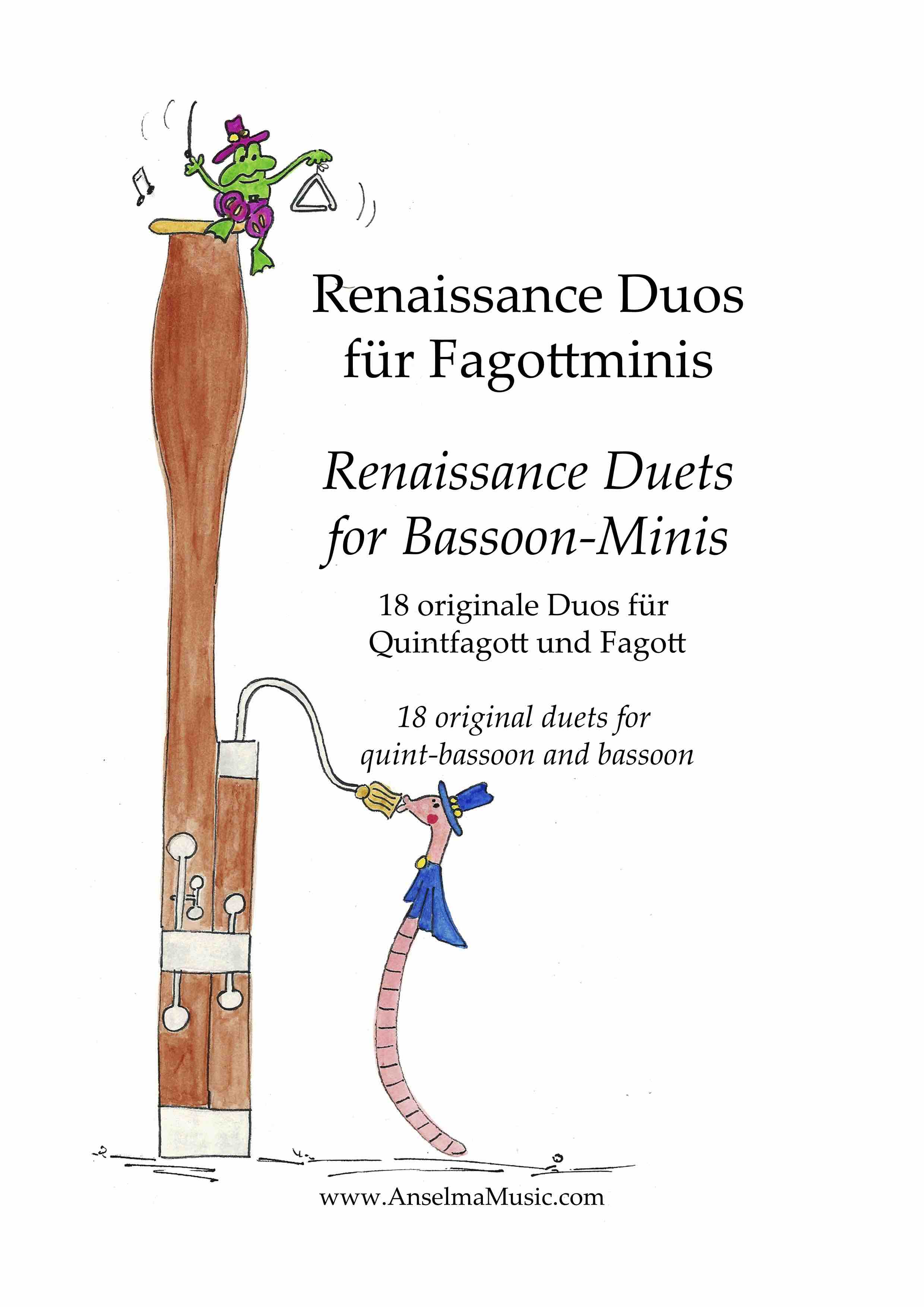 Renaissance Duos fuer Fagottminis QUINT Fagott Fagottino