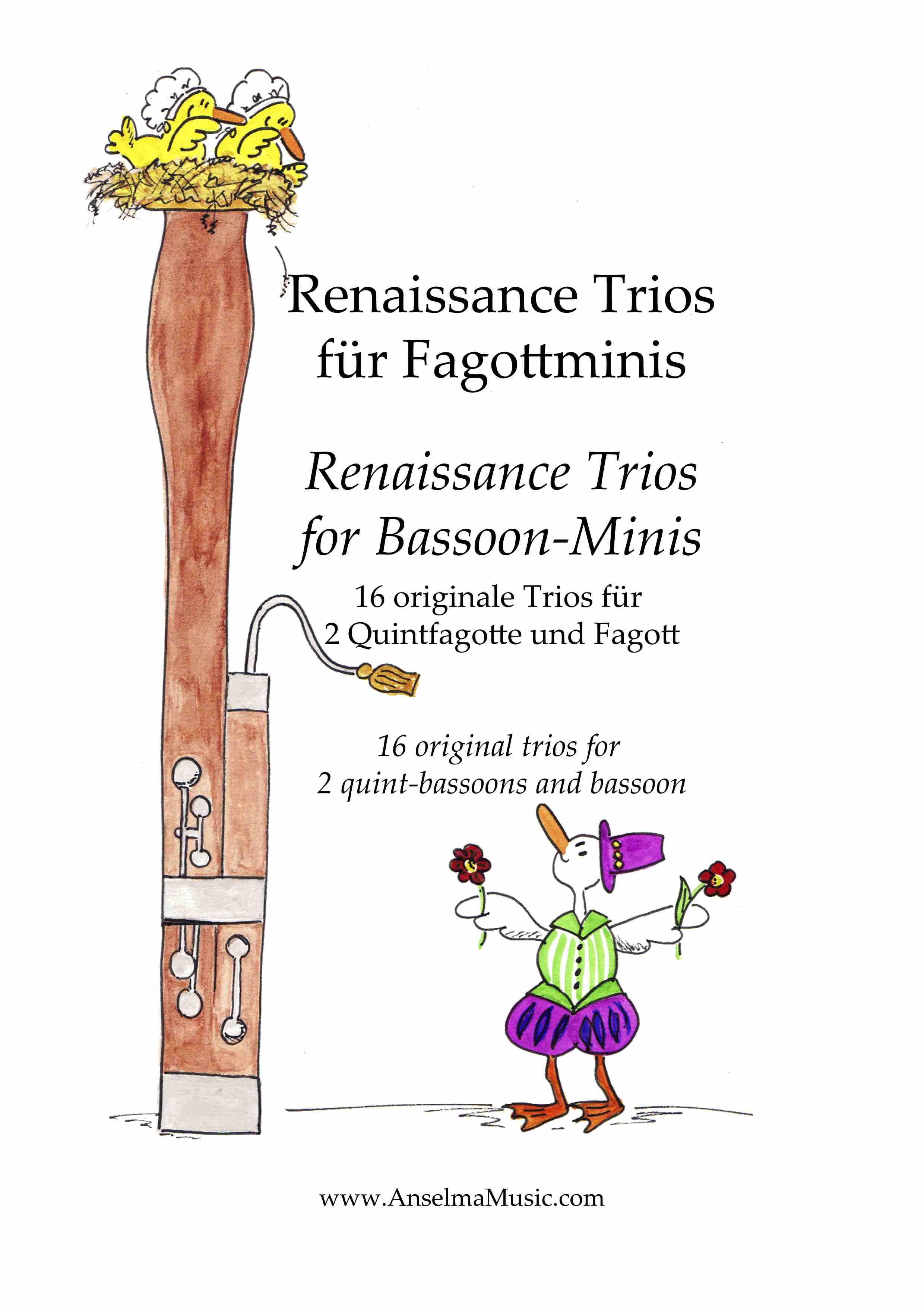 Renaissance Trios fuer Fagottminis QUINT Bassoon Trio Fagottino